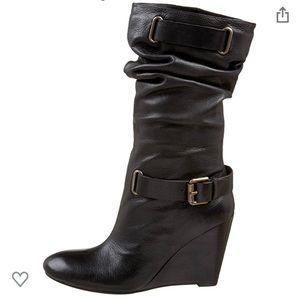 Nine West Women's ELEKTRA Wedge Heel Boots